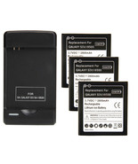 3 replacement battery and 1 Wall Charger for Samsung Galaxy s s4 sIV cel... - $43.99