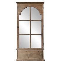 An item in the Everything Else category: Rectangular Rustic Door Design Leaning Mirror with Door Hinge