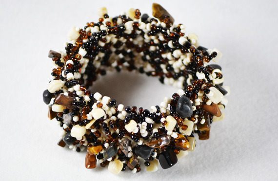 Handmade Seedbeads & glass Bracelet
