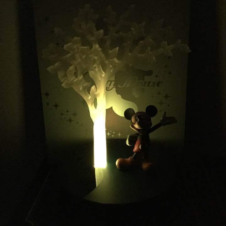 Disney Store Japan 25th Anniversary Mickey Mouse Interior Lamp Light 2,500limite