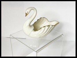 Lenox Swan Dish with 24K Hand Painted Gold Accents - $26.00