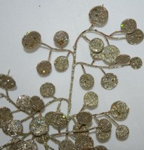 Unbranded Glittery Gold Decorative Disc Tree 29 Inches Spray image 2