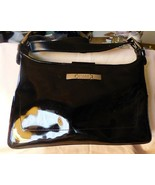 Vintage 1980s ESPRIT de Corp Black Faux Patent Leather Handbag Removable... - $35.00