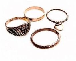 4 Vintage Sterling Silver & Silverplate Rings - $12.95