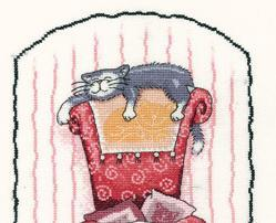 Home Is Where The Cat Is Cat's Rule 14ct Aida Kit cross stitch Heritage Crafts