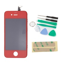 LCD Red Digitizer Display Glass Screen Replacement for AT&T GSM iPhone 4... - $55.99