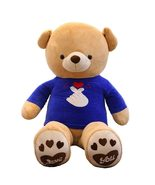 IKASA Giant Stuffed Teddy Bear with Blue Love T-shirt - $47.09+
