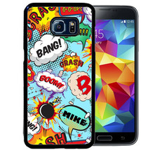 PERSONALIZED RUBBER CASE FOR SAMSUNG NOTE 9 8 5 4 COMIC BOOK SPEECH GEEK... - $13.98