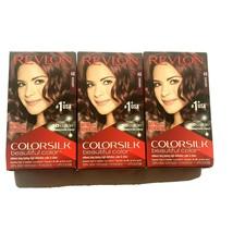 (3-Pack) Revlon Colorsilk 48 Burgundy Permanent Hair Dye with Keratin 10... - $17.99