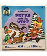 Peter And The Wolf (Story of) 7' Vinyl Record / Book, Disneyland - LLP 321 - £14.66 GBP