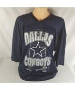 Majestic Dallas Cowboys NFL Navy Blue Silver Jersey Shirt XXL Made In Th... - $49.45