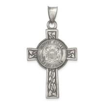 Sterling Silver U.S. Coast Guard Cross Pendant - $96.99