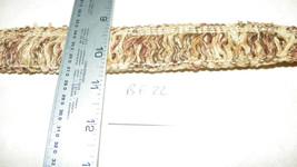10 Yards of Dark Brown Cream Brush Fringe Trim  BF22 - $22.50