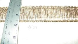 10 Yards of Light Brown Beige Brush Fringe Trim  BF21 - $22.50