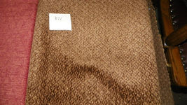 Brown Small Diamond Print Chenille Upholstery Fabric Remnant   F821 - $16.95