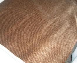 Brown Stria Velvet Upholstery Fabric  1 Yd - $19.95