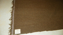 Brown Tan Tweed Nylon Upholstery Fabric 1  Yard  R902 - $19.95