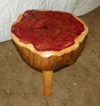 Cedar Log 3 Legged Footstool Stool - $199.00