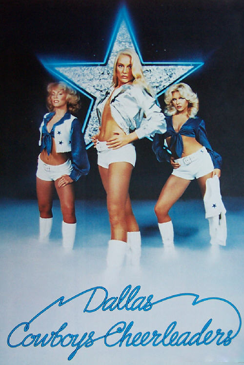 Dallas COWBOYS  Vintage NFL CheerLeaders Poster #2    2.5 x 3.5 Fridge Magnet for sale  USA