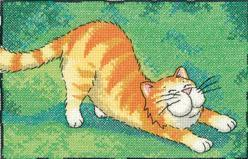 One Metre Stretch Cat's Rule 27ct Evenweave Kit cross stitch Heritage Crafts