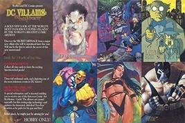 DC VILLAINS THE DARK JUDGEMENT 1995 SKYBOX UNCUT 6-CARD PROMO SHEET Fine... - $9.79