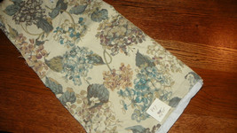 Green Beige Print Cotton Upholstery Fabric Remnant  F847 - $19.95