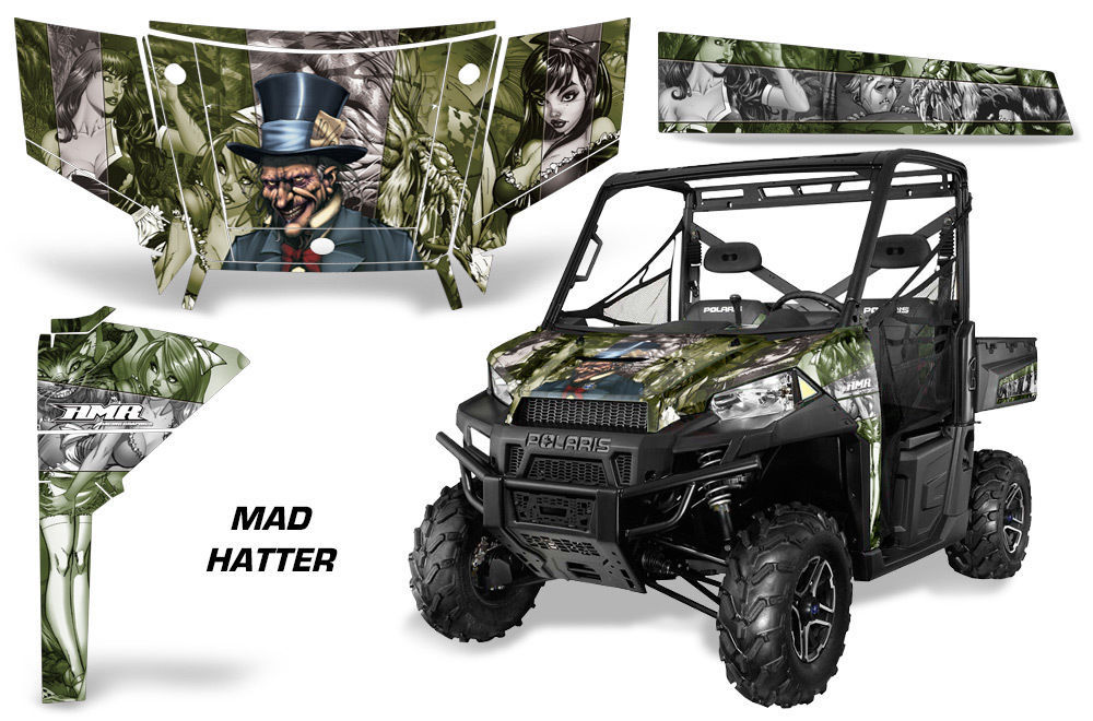 UTV Graphics Kit SxS Decal Wrap For Polaris Ranger 570 900 2013-2015 HATTER S G