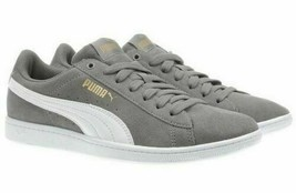 NEW PUMA Ladies Womens Suede Vikky Gray Tennis Gym Shoes Sneakers