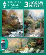 Thomas Kinkade - Courage - 3 in 1 Multipack Jigsaw puzzle - $26.66