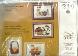 Embroidery Kit Creative Circle No. 210 Popcorn Donuts Kitchen New Unopened - $4.99