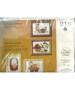 Embroidery Kit Creative Circle No. 210 Popcorn Donuts Kitchen New Unopened - $9.98