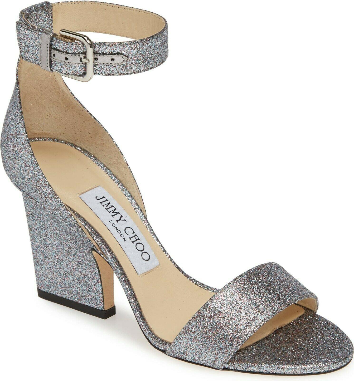 Jimmy Choo Edina Ankle Strap Sandal Size 38 MSRP: $695.00
