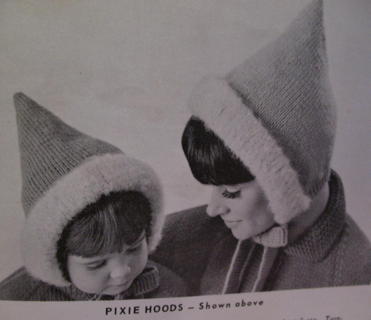 Headwear Cap Hoods Bonnet Hat Knitting Pattern Adult & Child