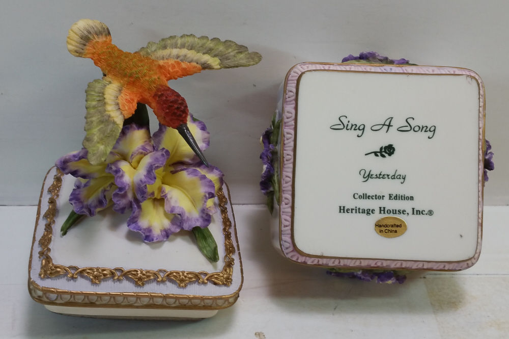 Heritage House Sing A Song Music Box Series Yesterday