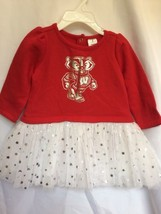 Ncaa Wisconsin Badgers Star Sweatshirt Tutu Dress Bodysuit 3 T Toddler G... - $20.90