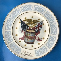 Vintage Avon Patriotic Plates - 1974 Freedom & 1973 Betsy Ross Made in England - $39.60