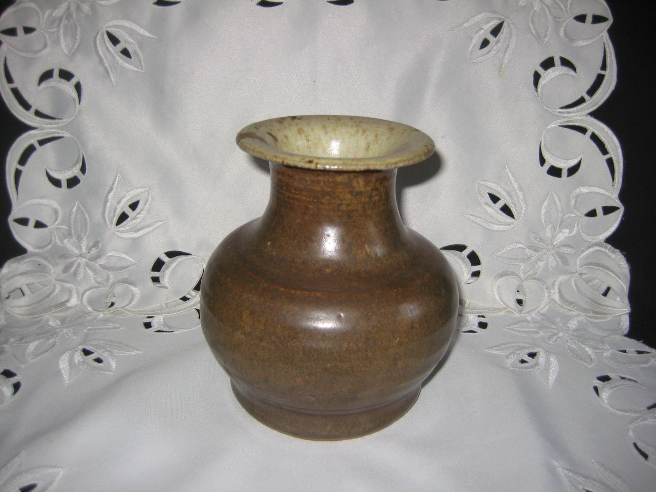 Handmade art pottery vase signed & dated by artist