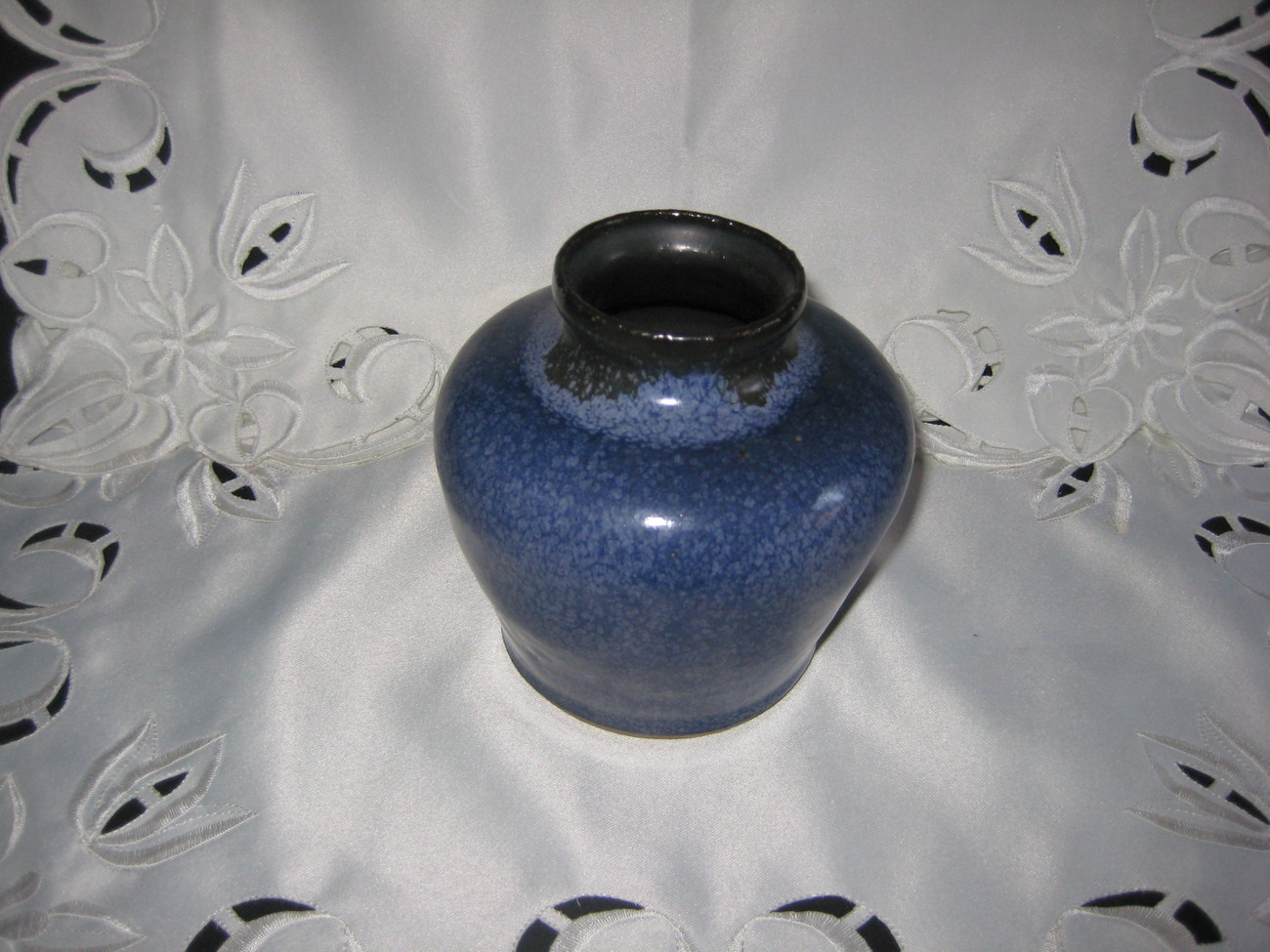 art pottery vase handmade dated and signed by artist