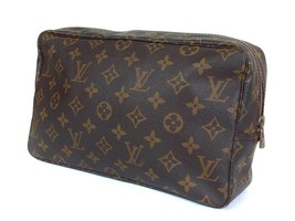 Auth Louis Vuitton Trousse Toilette 28 Monogram Canvas Cosmetic Pouch Bag LP1941 - $189.00