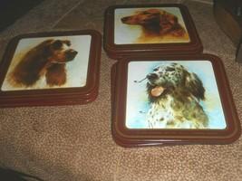 1986 HUNTING DOGS Coaster GIORDANO ART ENESCO 2 of each dog in set - $9.89