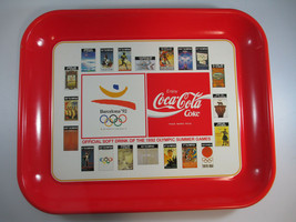 Coca-Cola Vintage 1992 Tin Tray Barcelona Spain Olympics  - $7.43
