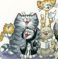 The Choir Cat's Rule 27ct Evenweave Kit cross stitch Heritage Crafts