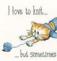Distracted Cat's Rule 27ct Evenweave Kit cross stitch Heritage Crafts