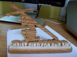 Christ died for our sins display - $20.00