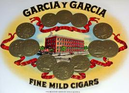 Garcia Y Garcia Embossed Inner Cigar Label, 1920's - $4.99