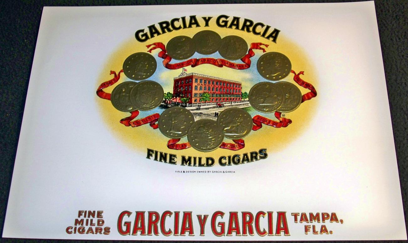 Garcia Y Garcia Embossed Inner Cigar Label, 1920's