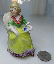 "Vintage Miniature Porcelain Made In Japan Victorian Lady 3 3/4"" - $25.00"