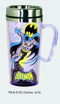 DC Comics Batman Figure & Bat Signal 15 oz. Acrylic Insulated Travel Mug... - $15.47