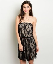 New Black Lace Party Dress Strapless S,M,L - $25.00