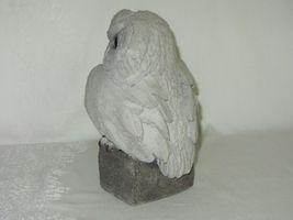 Handcrafted Cement Concrete Owl Figurine Vintage Garden Sculpture Rustic Art image 4
